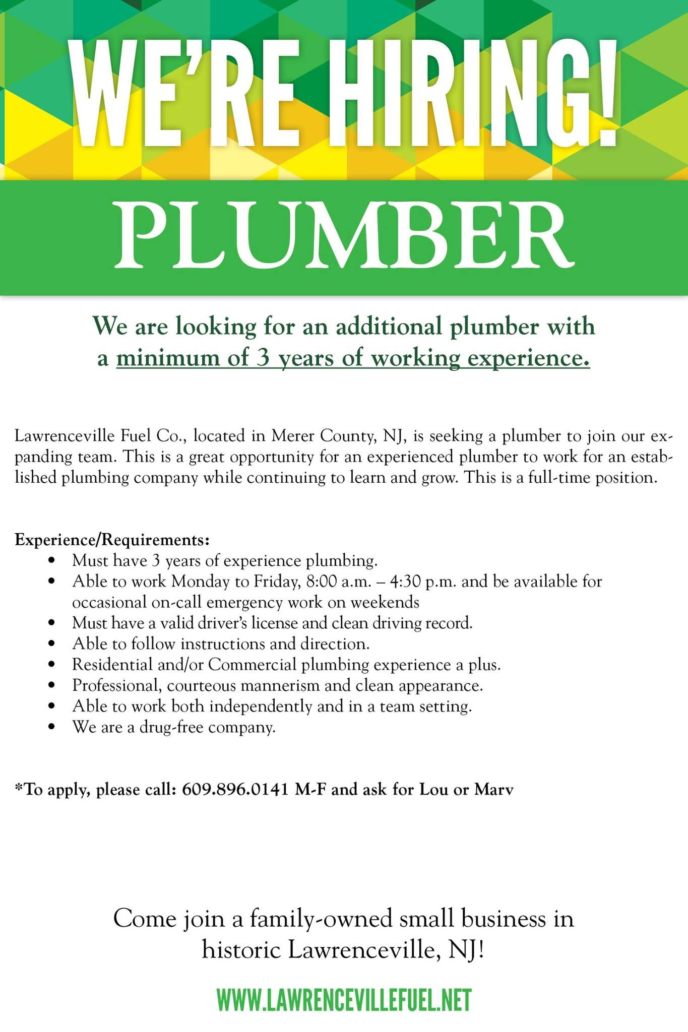 We're hiring! Lawrenceville Fuel