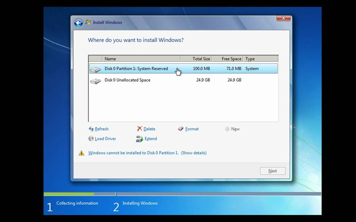 How to Install and Partition Windows 7 Windows, Free
