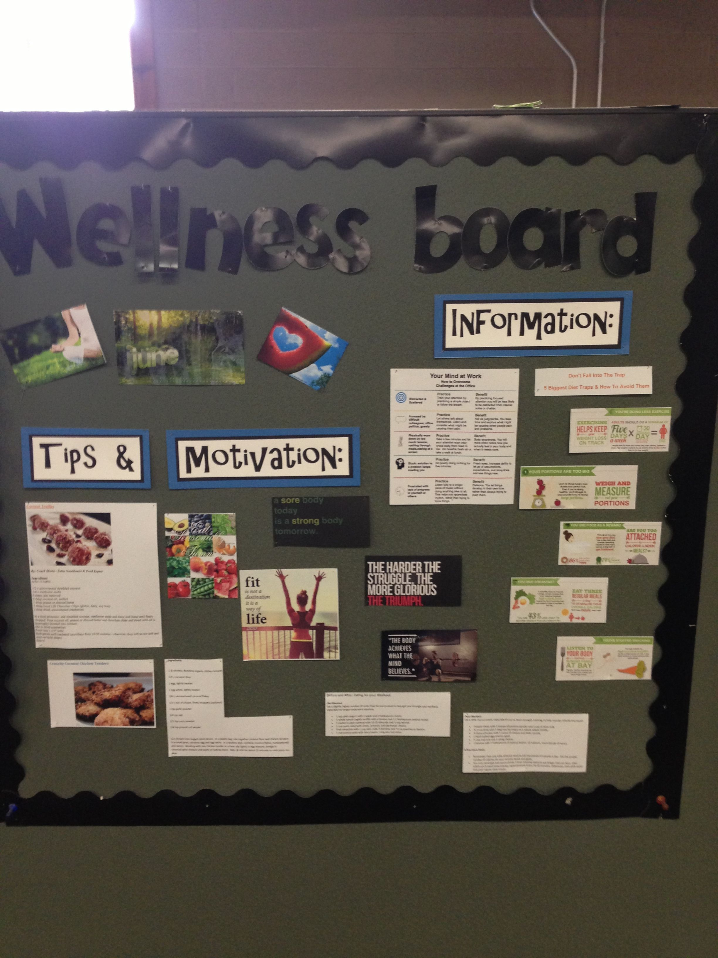 Wellness Board For The Office I Love This For Keeping The Team On
