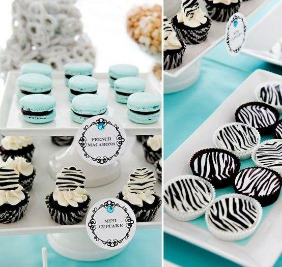 Zebra Party - Tiffany Blue