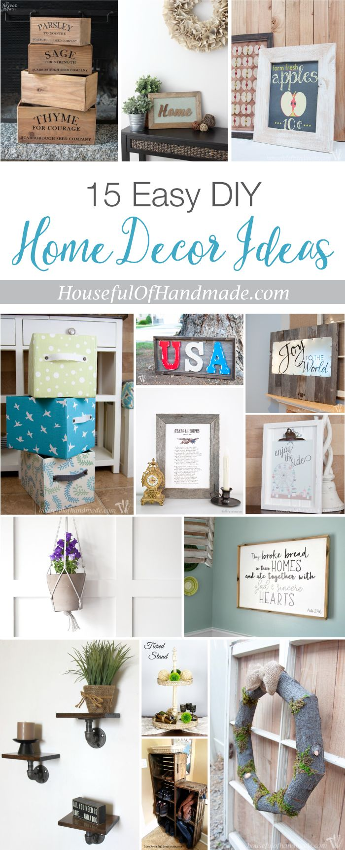 15 Easy DIY Home Decor Ideas | Spaces, Easy and Create