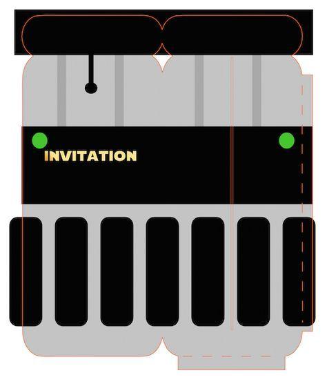 Madame Deux B Printable Invitation Star Wars A Imprimer