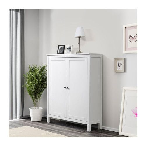 HEMNES Schrank mit 2 Türen, weiß gebeizt | Hemnes schrank, Türen ... | {Ikea spiegelschrank hemnes 66}