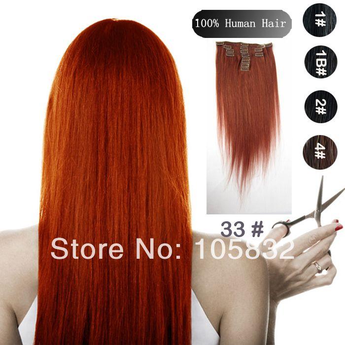 44 Virgin Remy Human Hairclip In Hair Extensionsstraight Hair15