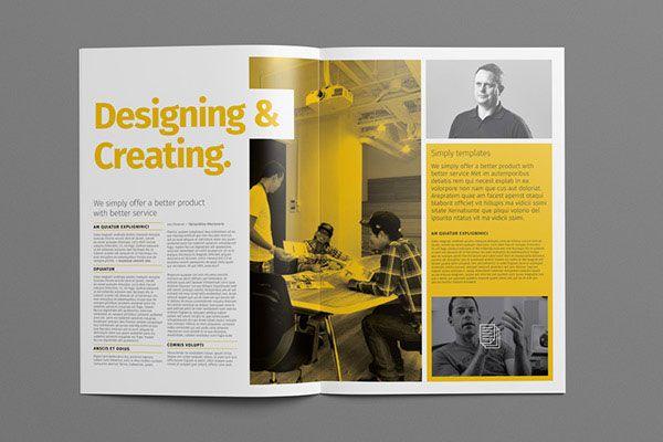 Beautiful Modern Brochure  Folder Design Ideas   Layout