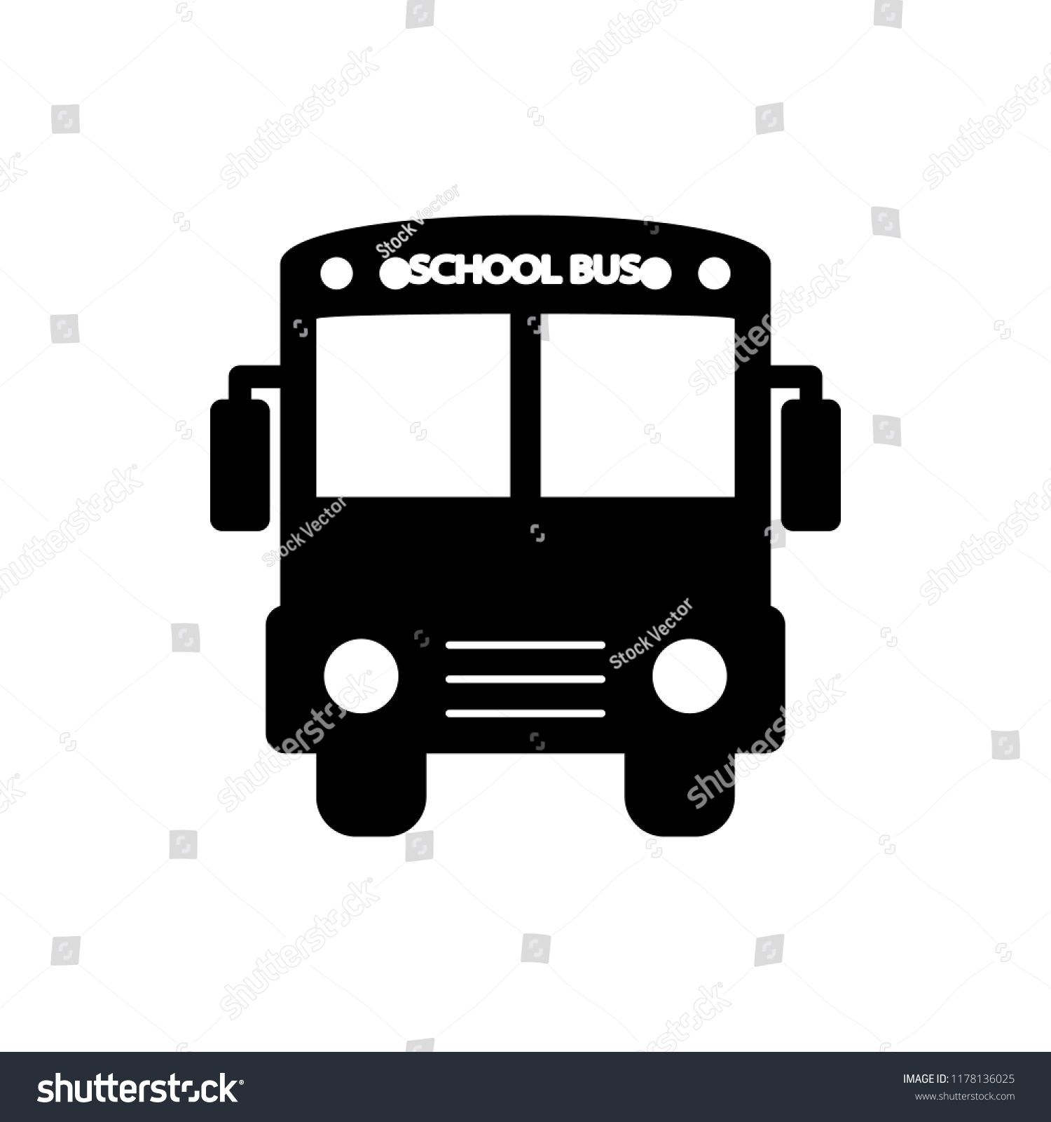school bus icon  Element of back to school icon for mobile