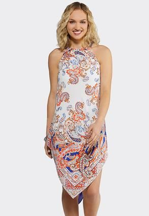 Plus Size Paisley Hanky Hem Dress Plus Sizes Cato Fashions ...