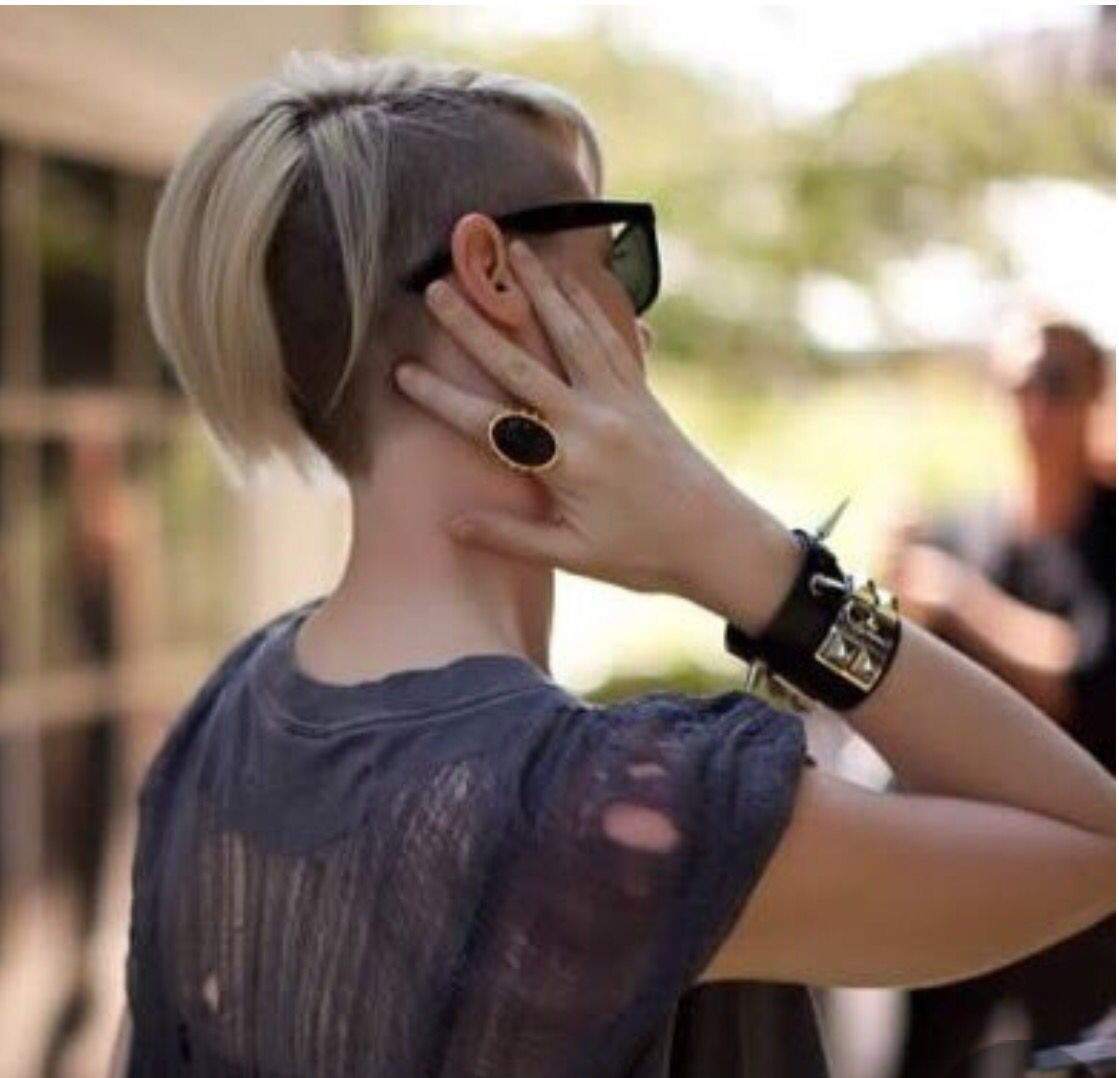 Shaved short hairstyles for women pinterest short hairstyle