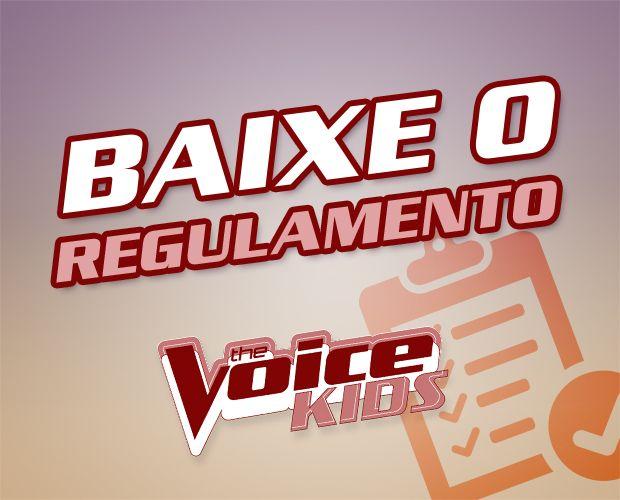 Regulamento para a inscrição da primeira edição do The Voice Kids