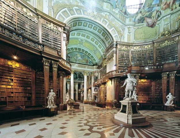 Austrian National Library In Vienna Austria Biblioteca Antigua Biblioteca De Alejandria Biblioteca De Ensueño
