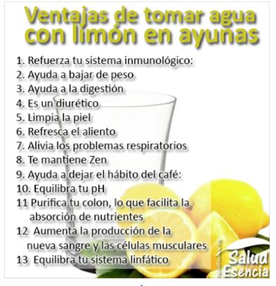 Tomar limón en ayunas. Bueno, bonito, barato