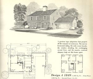 Vintage House Plans 1970s Early Colonial Part 2 Vintage House Plans House Plans Vintage House