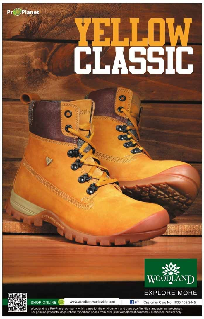 Woodland launches yellow classic boots