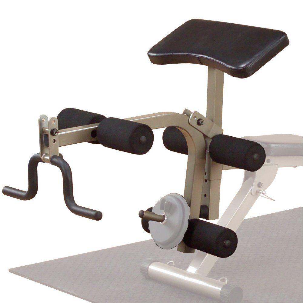 fitness gear bench leg extension attachment