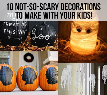 10 Halloween Inspired Tutorials for Not-So-Scary Decorations - not so scary halloween decorations