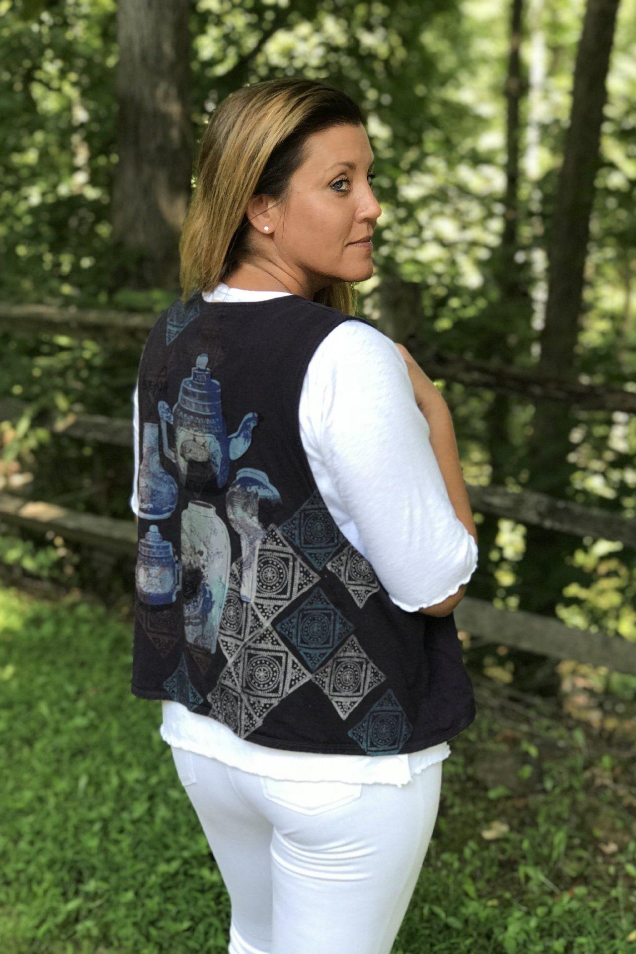 Doubled Vest Midnight Purple Mythical Tea Party Vest