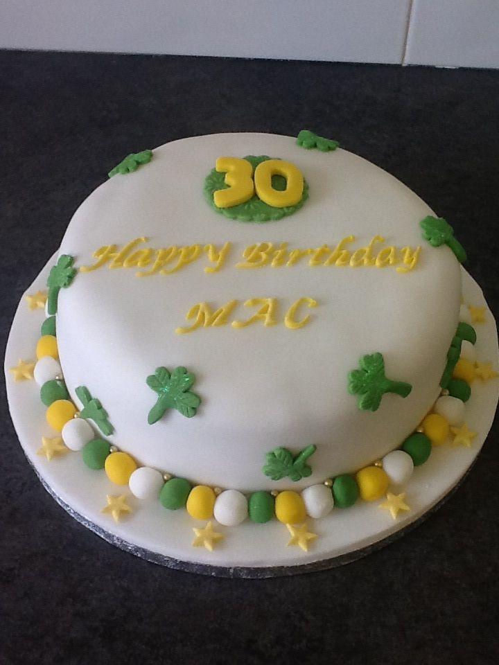 30th birthday cake with an irish theme 30 birthday cake