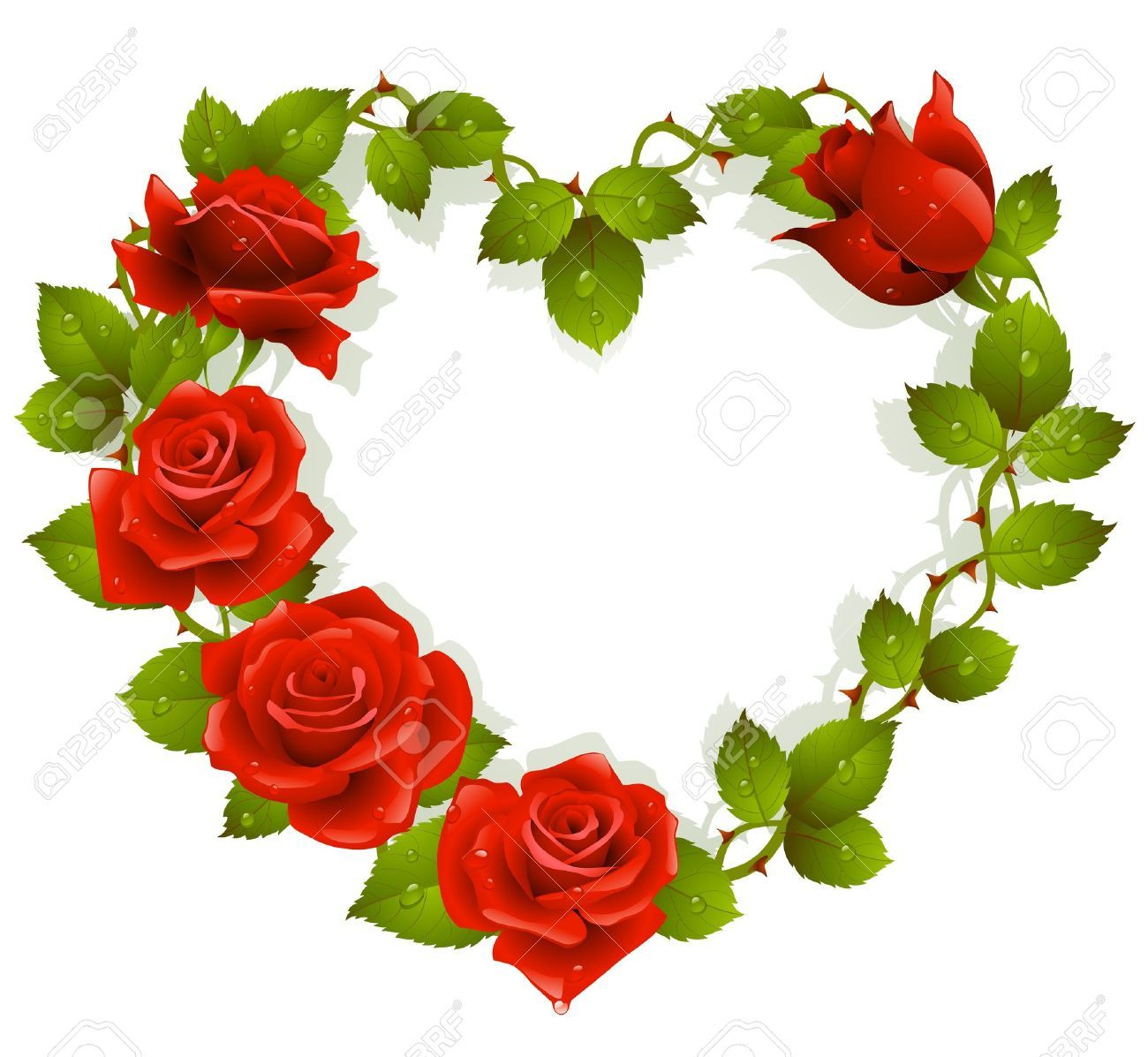 Framework From Red Roses In The Shape Of Heart Flower Heart Red Roses Rose