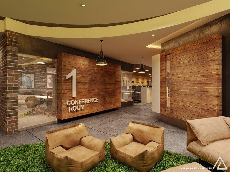 Modern Office Interior Design By Kaswa Services Denim Factory Block