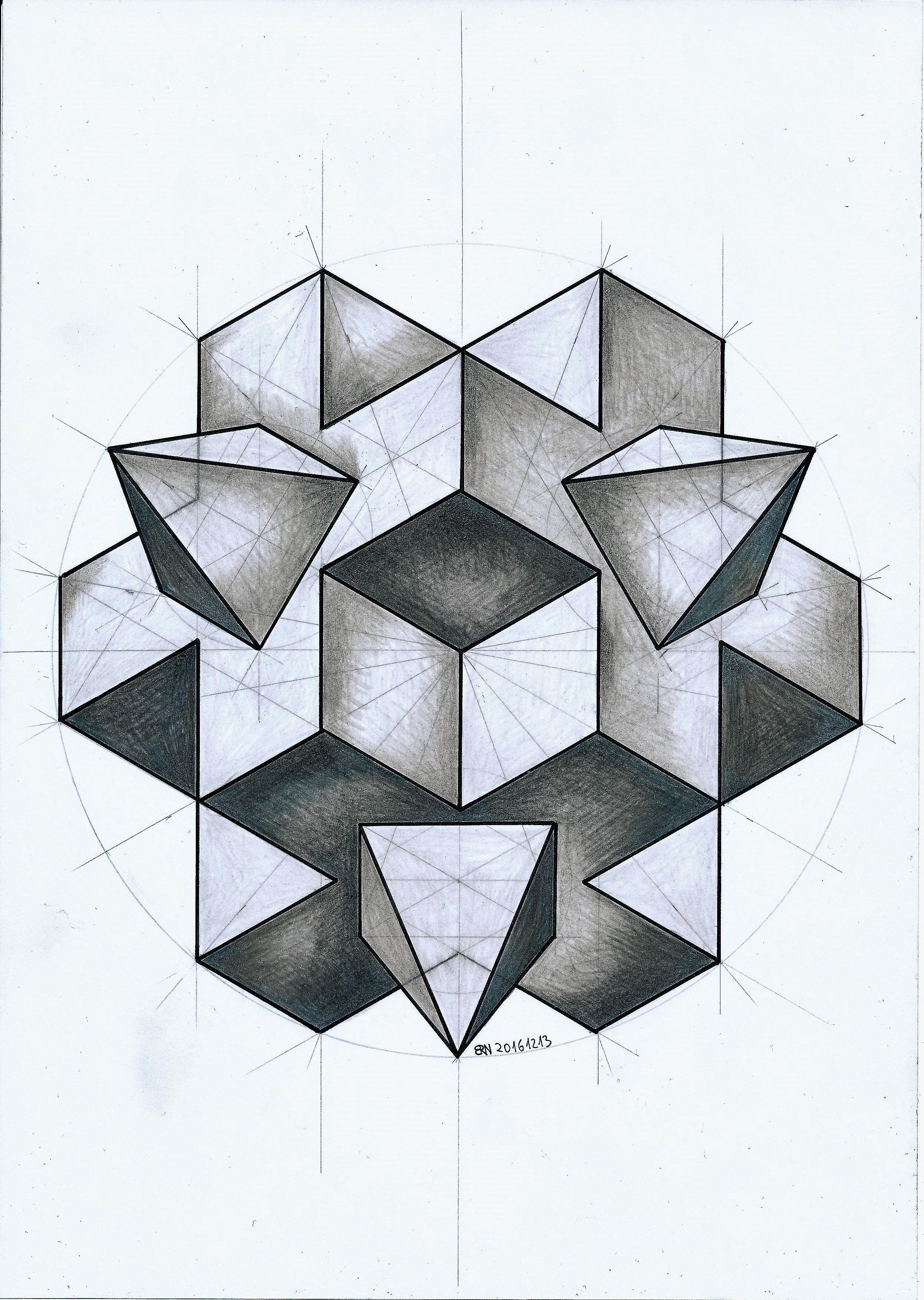solid #polyhedra #geometry #symmetry #handmade #pencil