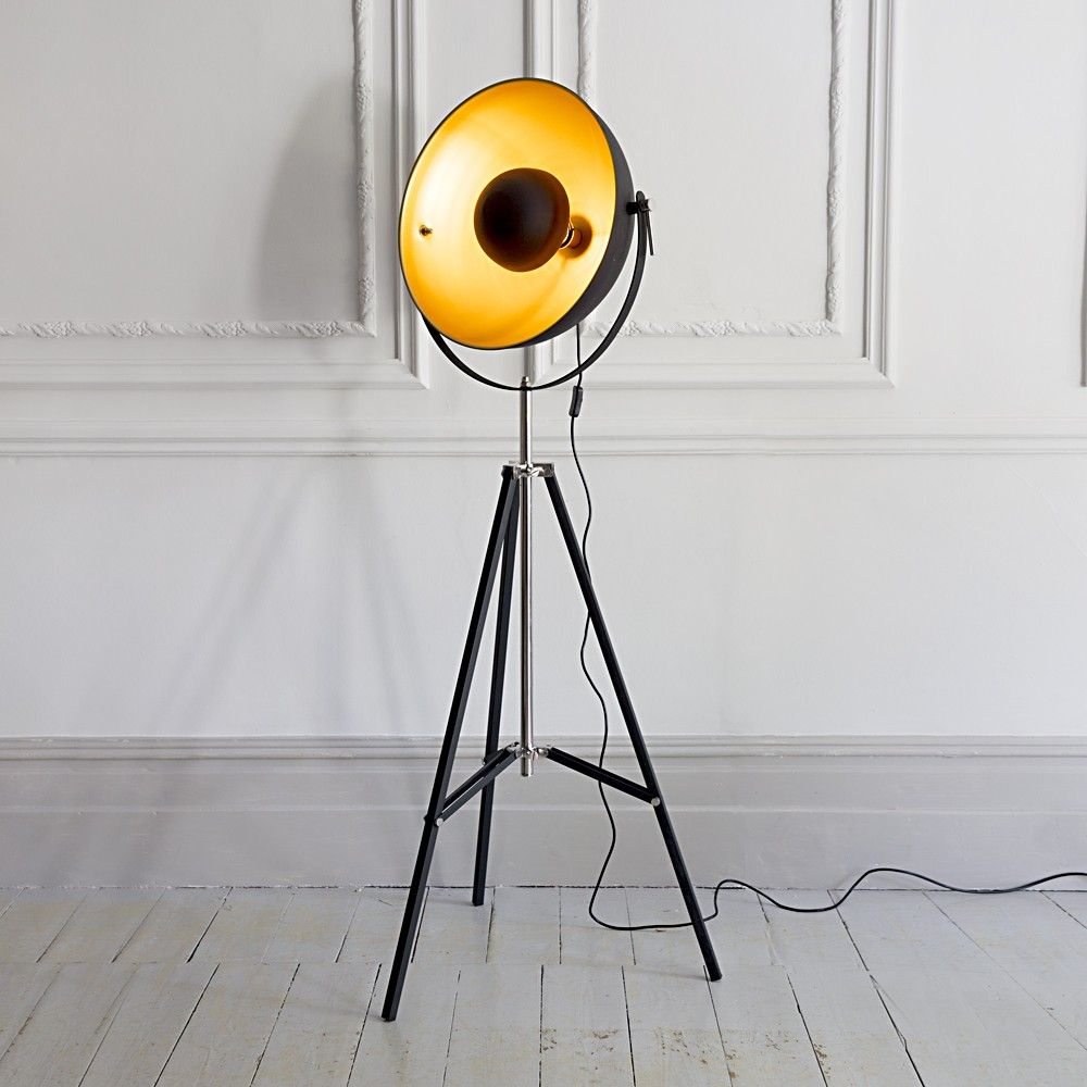 image 14 of 20 from gallery of unusual floor lamps to give statement for your home interior this tripod floor lamp in black powder coated