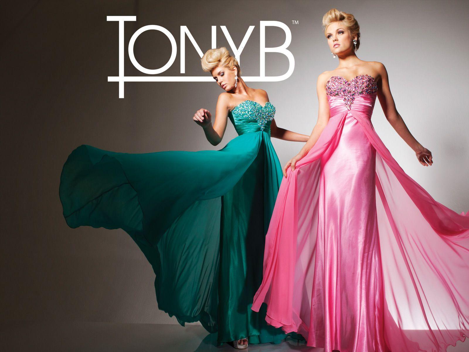 Strapless velvet chiffon prom dress with handbeaded bodice and