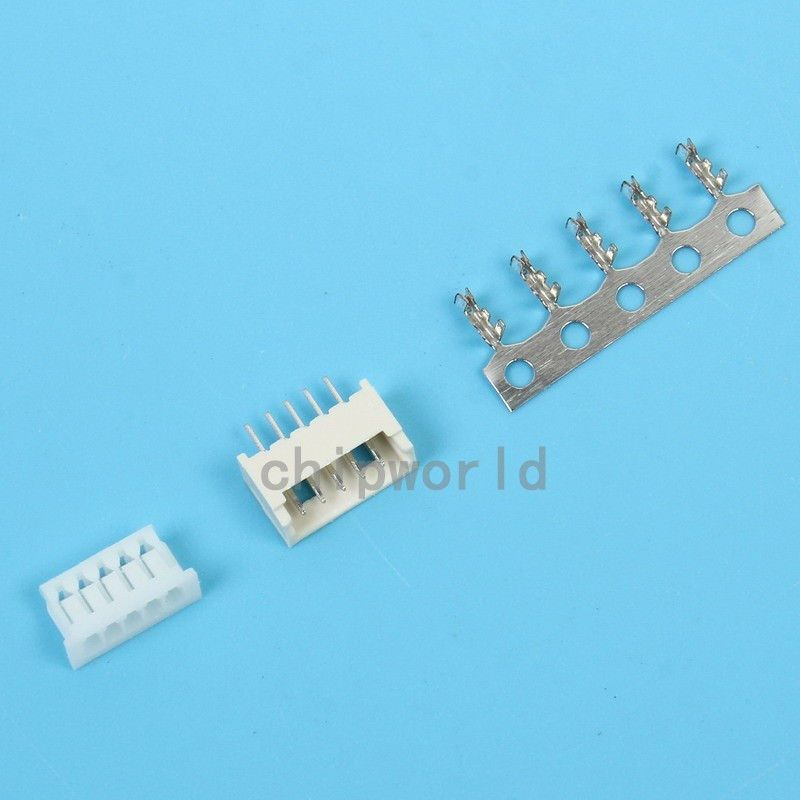 Micro JST 1.25mm T1 5Pin Straight Connector Plug Female
