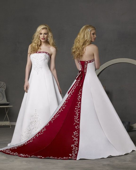 Colored wedding dresses - A new trend for brides | Wedding, Red ...