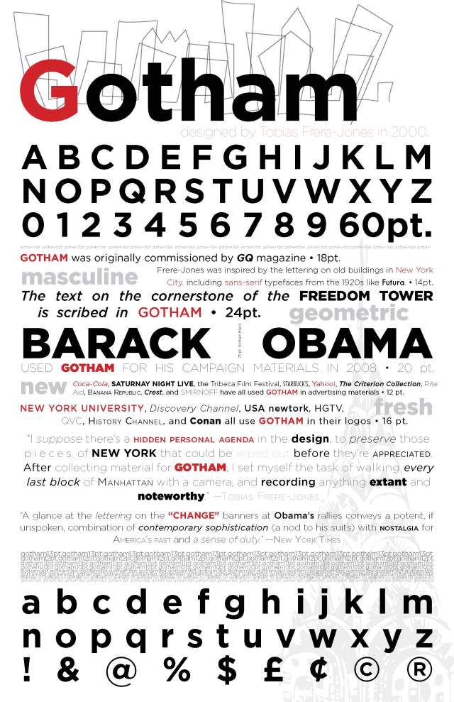 Type Specimen Sheets Homework Assignment Gotham Font Typography Layout Lettering