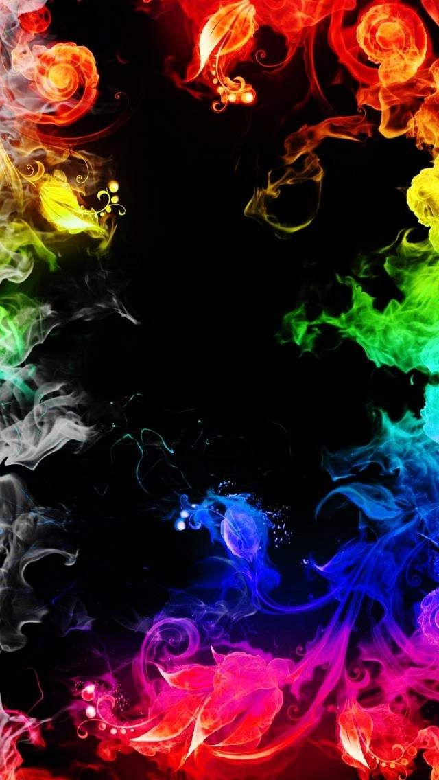 Download Rainbow Smoke Wallpapers To Your Cell Phone Colorful Flame Flowers Smoke Trib Cool Backgrounds Wallpapers Smoke Wallpaper Colourful Wallpaper Iphone