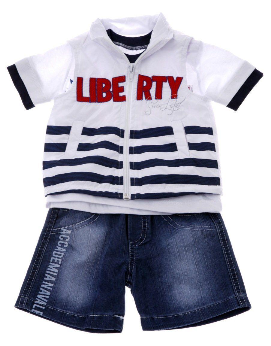 Παιδικά ρούχα AZshop.gr - Ecoo βρεφικό σετ ζακέτα-μπλούζα-παντελόνι σορτς « 090f36e4e0c