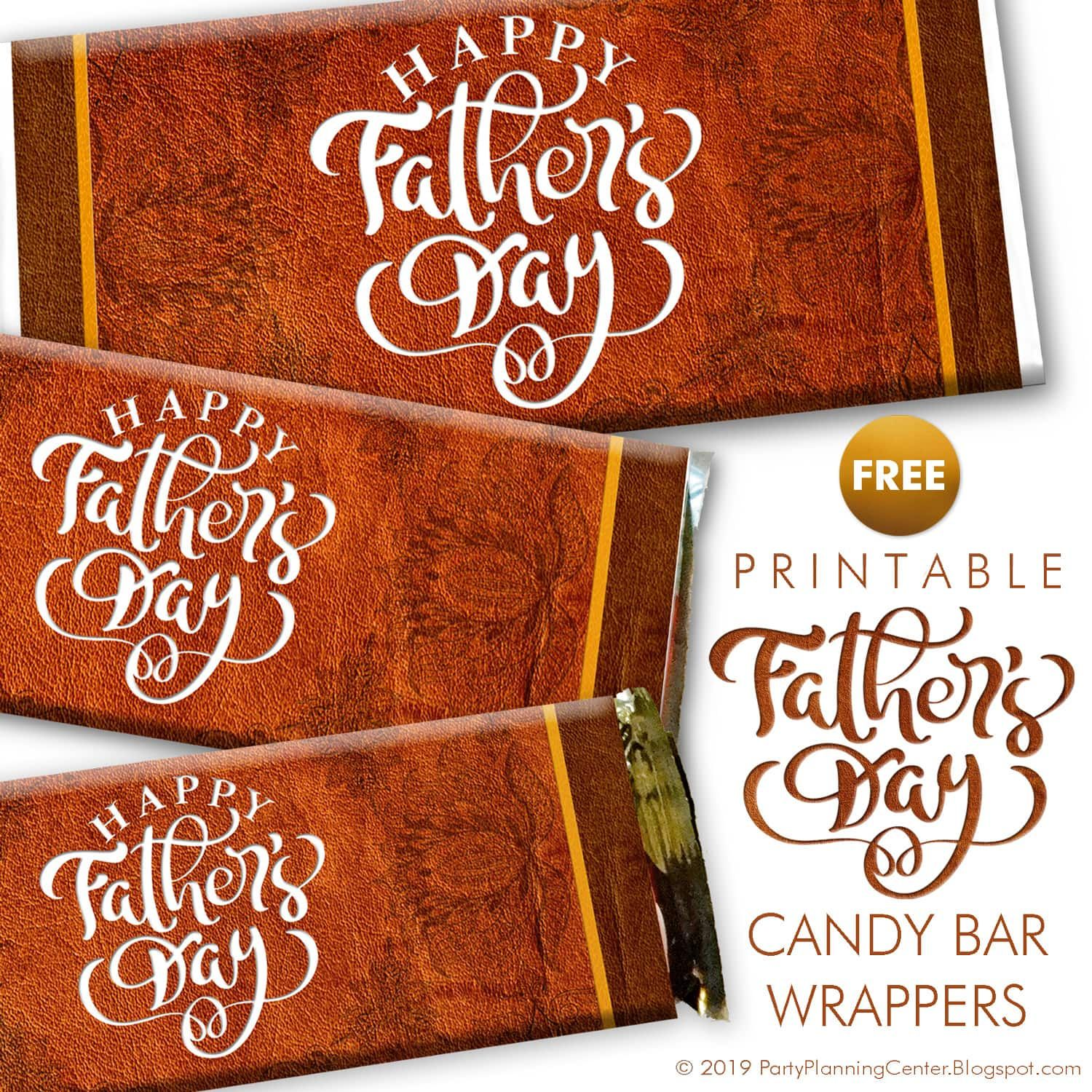 Free Printable Father S Day Candy Bar Wrappers