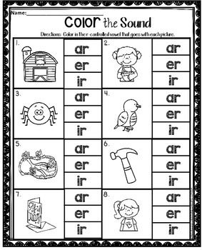 R Controlled Vowels Worksheets Phonics Instruction Vowel Worksheets Teaching Phonics