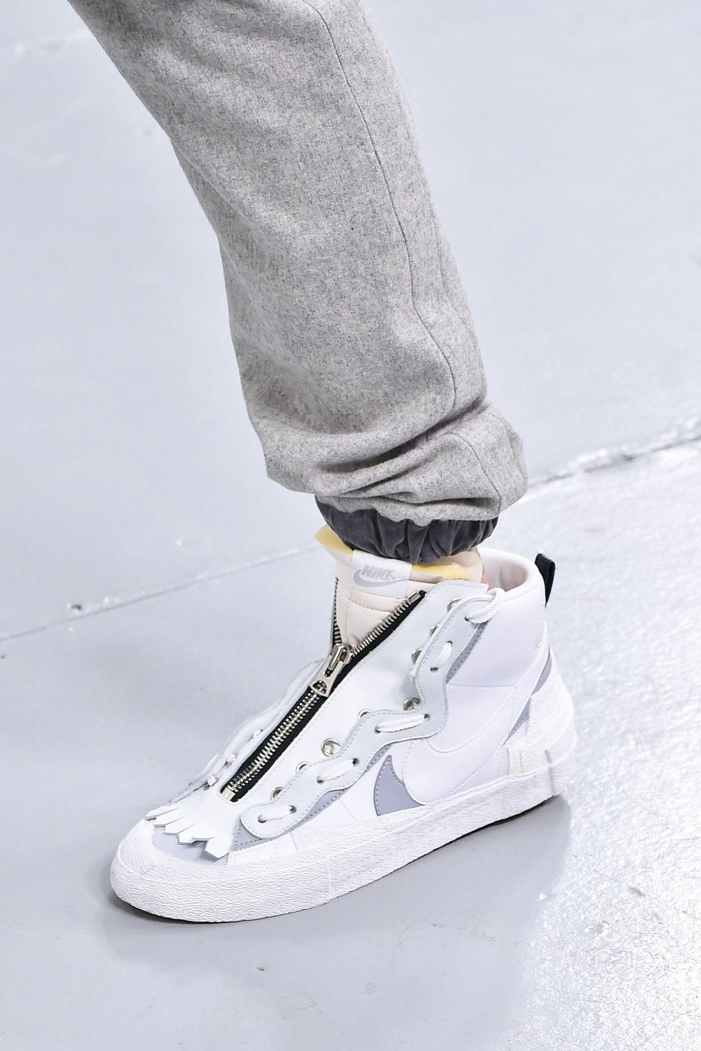 6016455c sacai x Nike Sneakers info runway images blazer mid waffle racer fall  winter 2019 paris fashion week