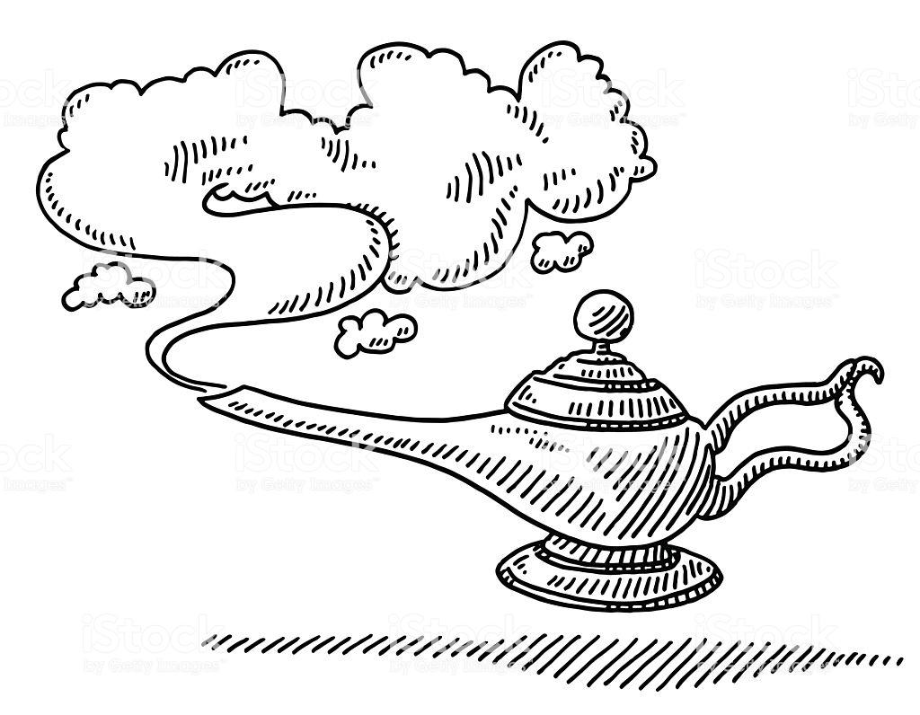 Magic Lamp Smoke Drawing Royalty Free Magic Lamp Smoke Drawing Stock Vector Art More Images Of Doodle Smoke Drawing Doodle Illustration Free Vector Graphics