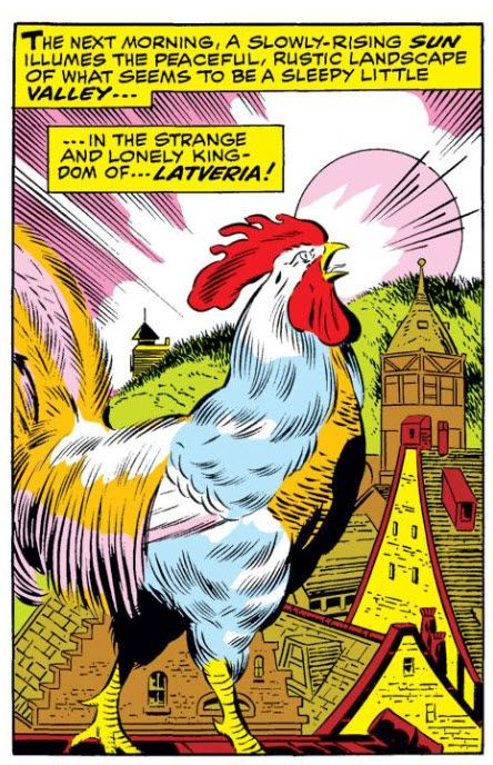 Can I just say, this is a majestic rooster. Really bringing his A game to this panel.