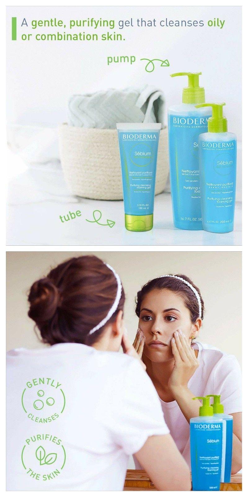Bioderma Sebium Foaming Gel Facial Cleanser For Combination To