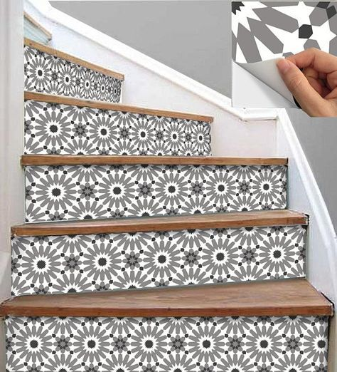 Carved Wood Stair Risers Stair Ideas Stamped Leather: Old Stairs Makeover Stairways 21 Ideas (With Images