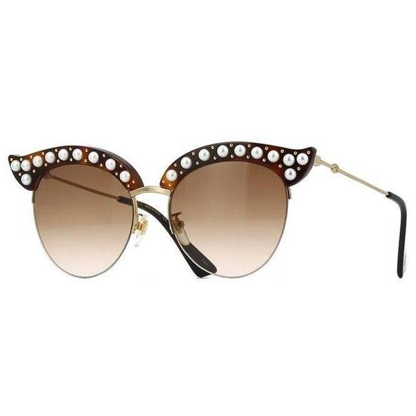 bf2bfbb8b1cb0 Gucci Gg0212s 002 Sunglasses Tradesy ( 10) ❤ liked on Polyvore featuring  accessories
