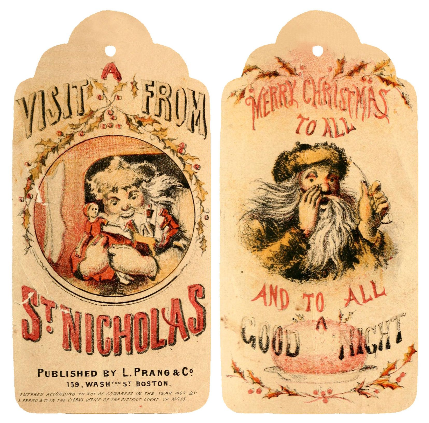 On this page we have some amazing printable vintage Christmas tags ...