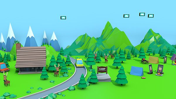 Microsoft Store: Low Poly Summer on Behance