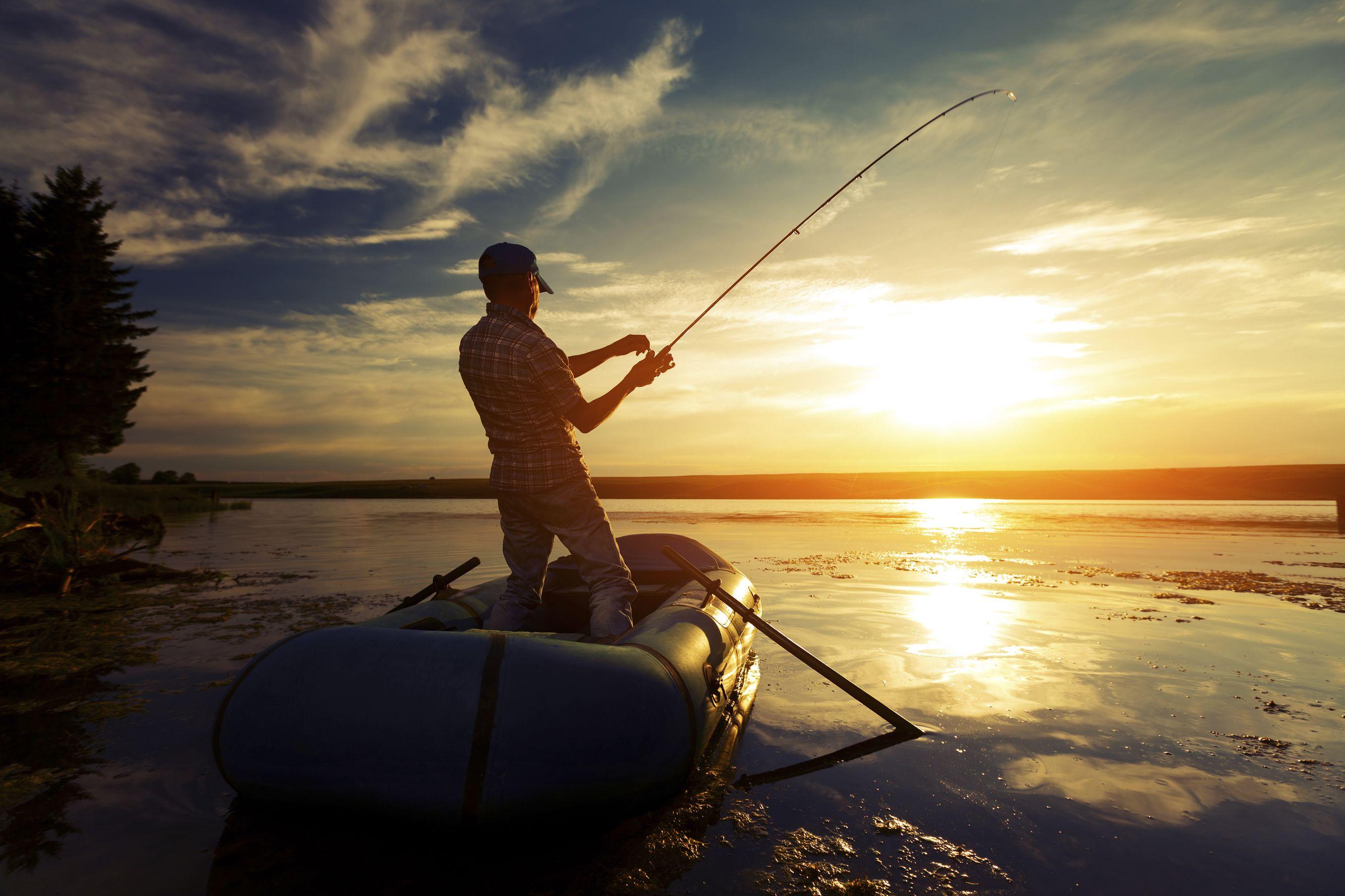 On the lake going fishing Going fishing, Ge image