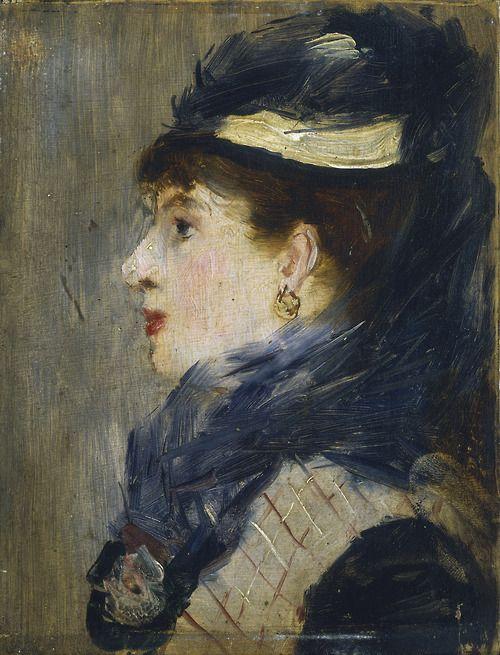 """Portrait of a Lady"", 1879, Edouard Manet."