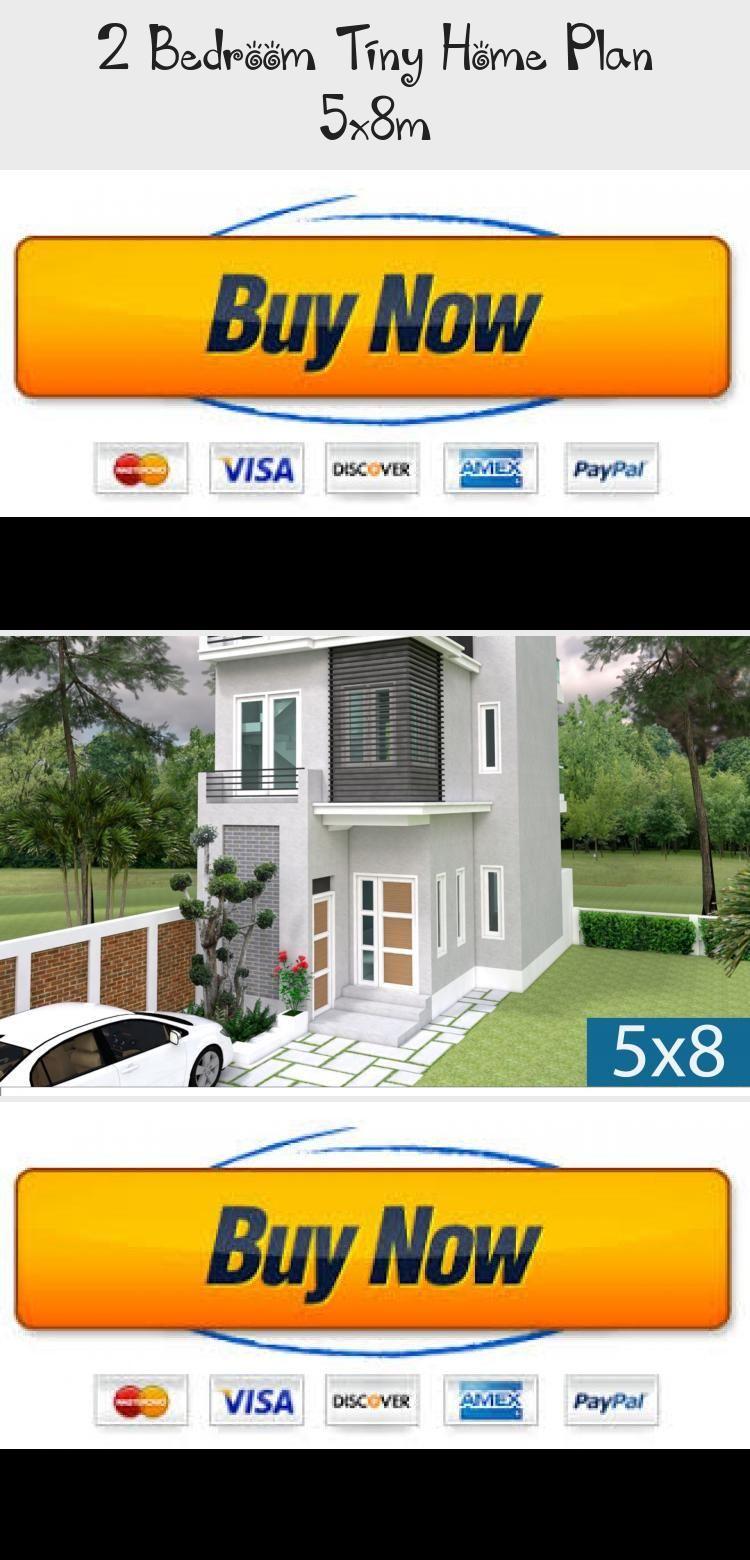 2 Bedroom Tiny Home Plan 5x8m Samphoas Plansearch Rustichouseplans Tinyhouseplans 1000sqfthouseplans In 2020 Simple Bedroom Simple Bedroom Design Tiny House Plans