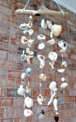 Shell Windchime Diy Wind Chimes Seashell Crafts Wind Chimes