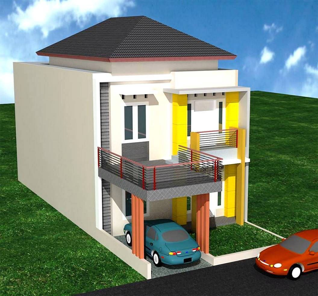 Desain Rumah Type 36 Tingkat 2 Cek Bahan Bangunan