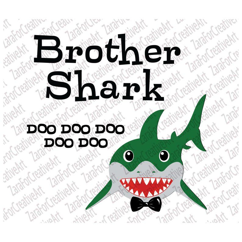 Brother Shark svg doo doo svg daddy baby mommy sister