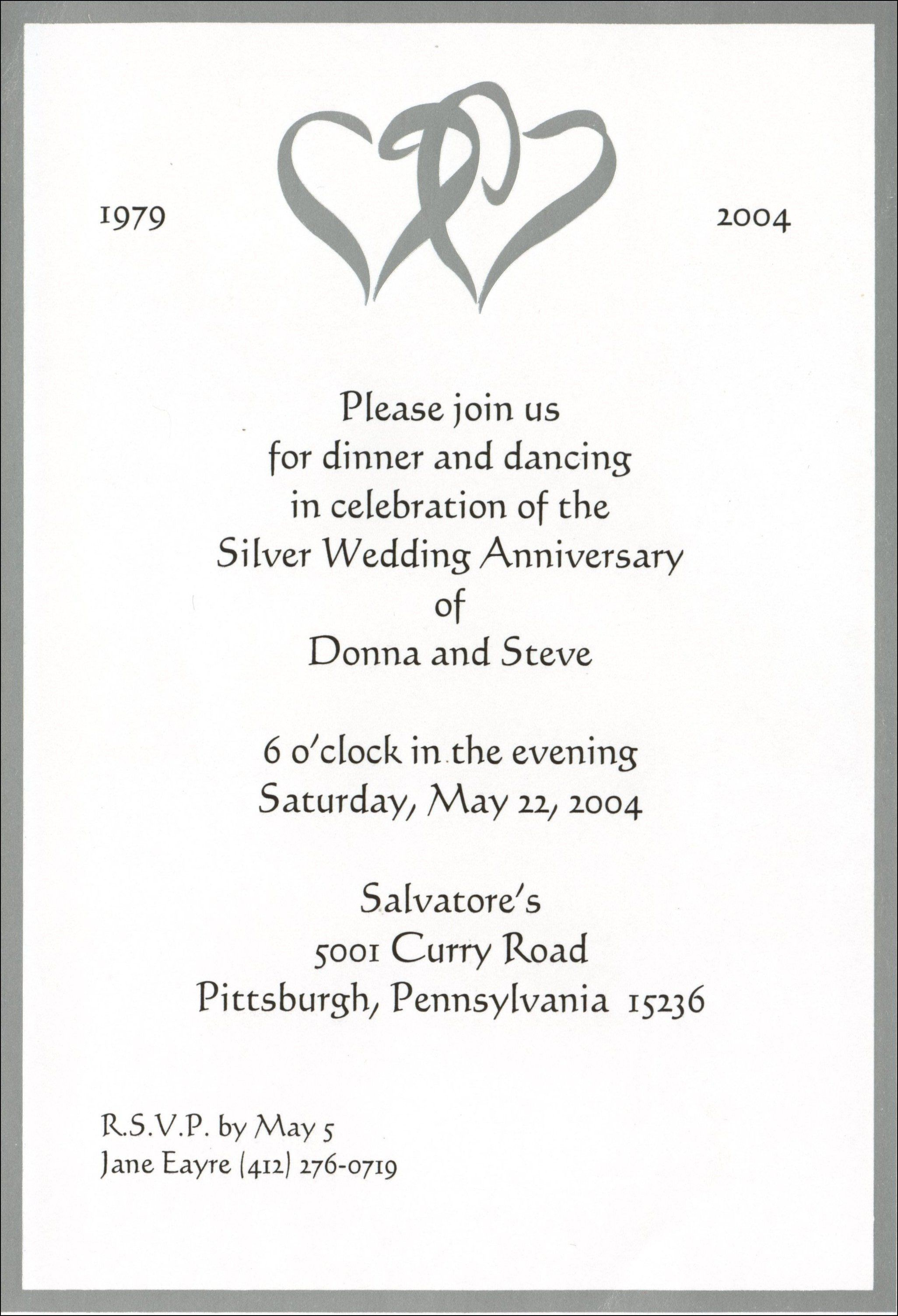 Marriage Anniversary Invitation Message 50th Wedding Anniversary