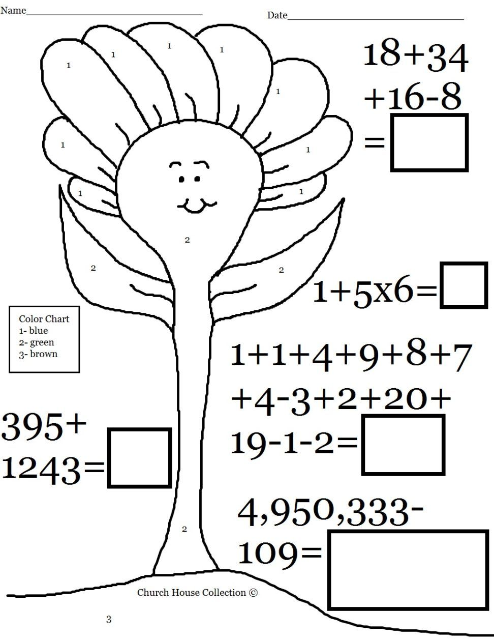 Dorable This Is A Free Printable Kids Worksheets Fun Color By Number ...