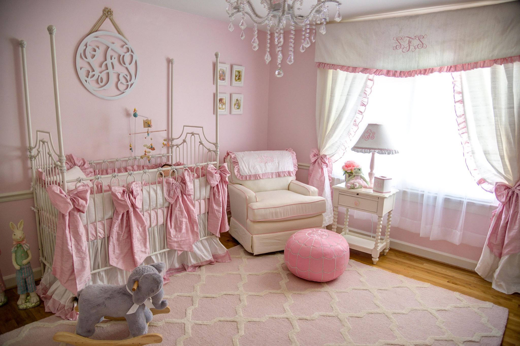 our pink labor of love for the nursery